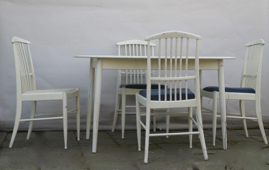 asko esszimmer sitzgruppe 60er 70er design tisch stuhl zum restaurieren ebay. Black Bedroom Furniture Sets. Home Design Ideas