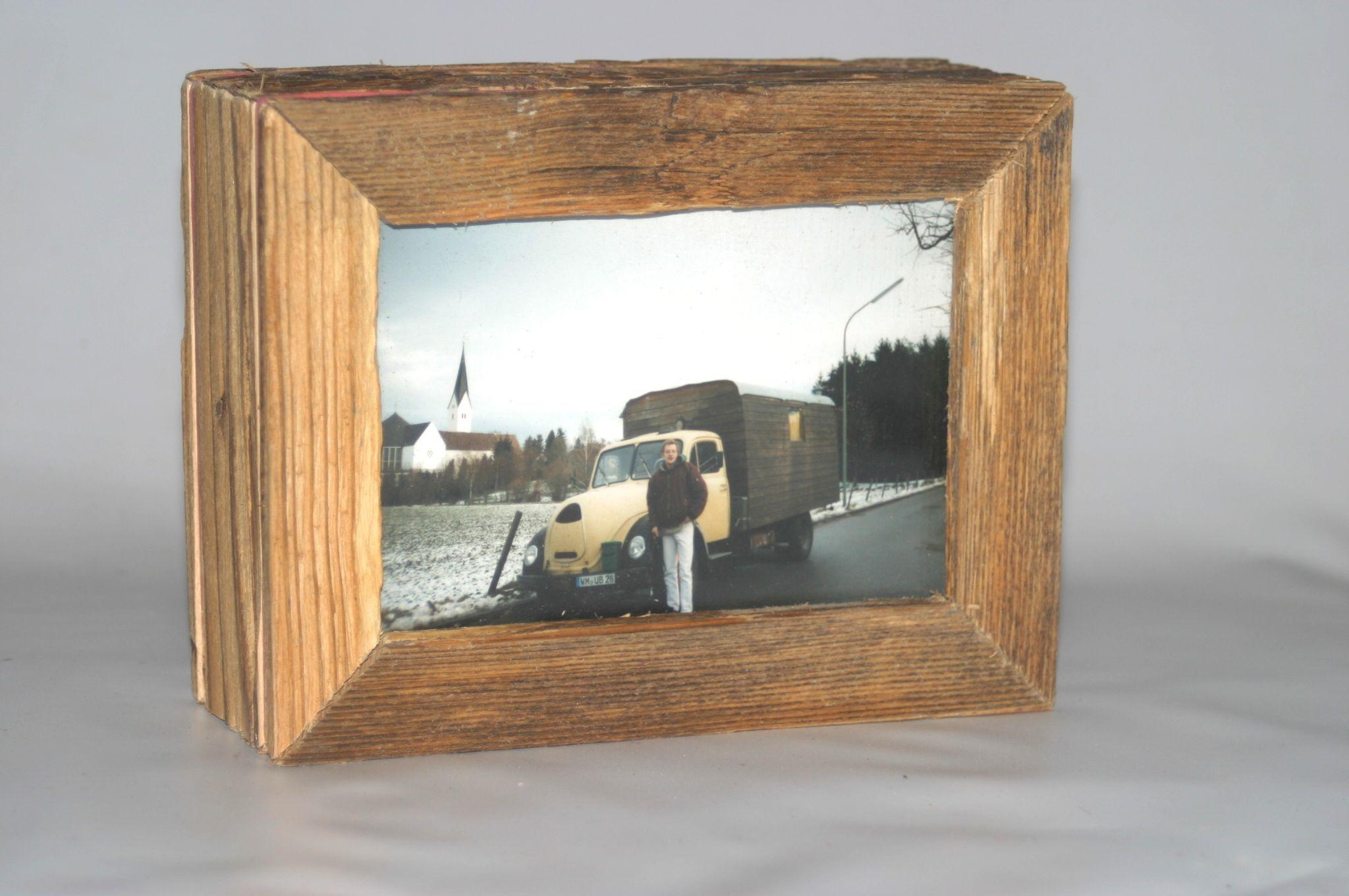 altholz bilderrahmen upcycling landhaus fotorahmen standrahmen 9 x 13 vintage ebay. Black Bedroom Furniture Sets. Home Design Ideas